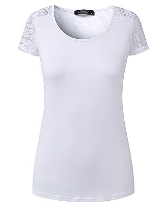 3b95aa1c18100 ZANZEA Women's Sexy V-neck Short Sleeve Button Down Slim Solid Blouse Tops  (US