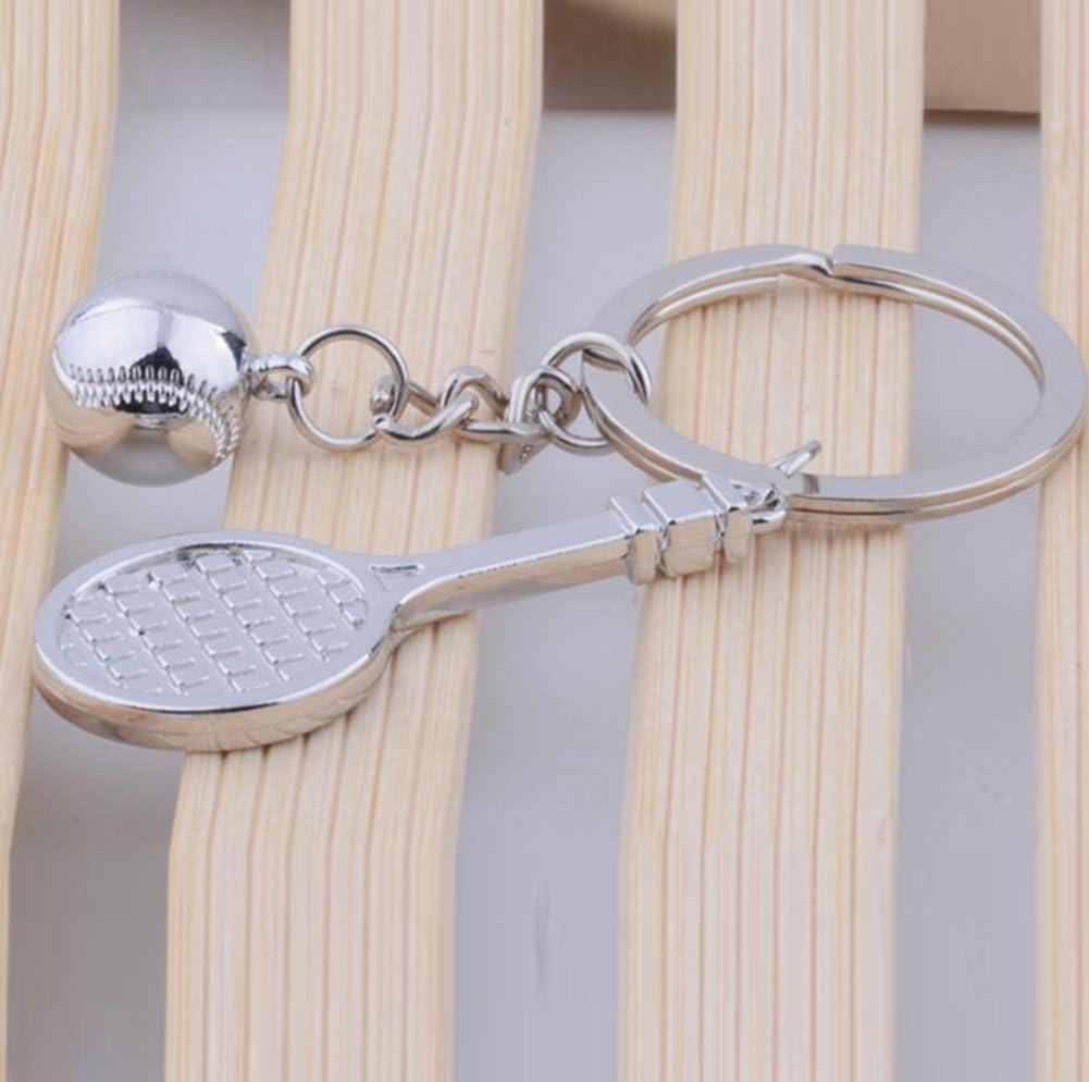 BIGBOBA Raquette de Tennis en m/étal en Forme Porte-cl/és Porte-cl/és Pendentif Collection Cadeau Porte-cl/és Sac /à Main de Voiture D/écoration de t/él/éphone