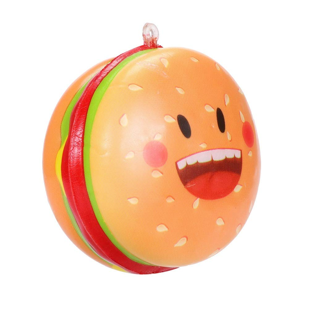 Susun Squishies Kawaii Hamburger Slow Rising Cream Scented Keychain Stress Relief Toys Easter Party Gift (A)