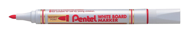 Pentel Whiteboard-Marker MW85, Rundspitze, rot MW85-BE