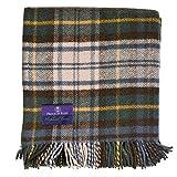 Prince of Scots Highland Tartan Tweed 100% Pure New Wool Throw ~Antique Dress Gordon ~