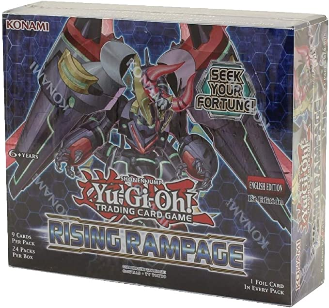 Konami Yu-Gi-Oh! TCG: Rising Rampage Booster Display (24 Booster Packs): Amazon.es: Juguetes y juegos