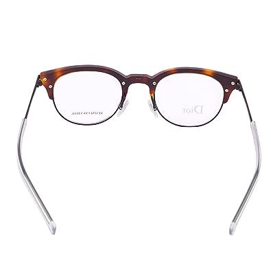 933155fd1b8 Amazon.com  Christian Dior Homme Eyeglasses 0202 G60 Havana Black Frame  49-22-145  Shoes