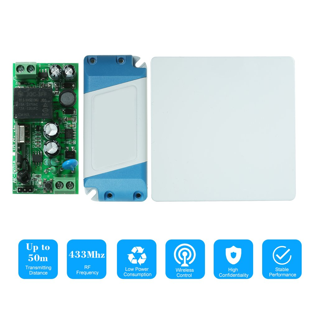 Baoblaze Dc 12v 4ch Rf Relay Wireless Remote Control Light Switch Garage Door Opener 433mhz