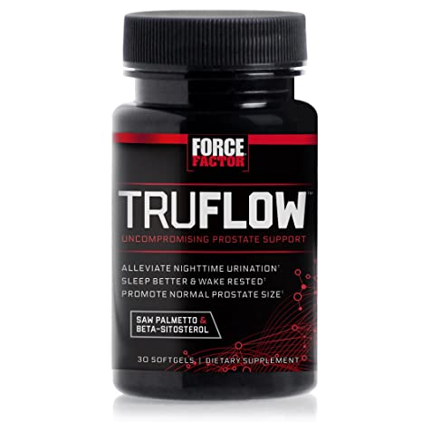 Amazon.com: Force Factor TruFlow Prostate Health Support with Beta-Sitosterol and Saw Palmetto - Reduce Frequency, Improve Flow, and Support Normal Size, ...