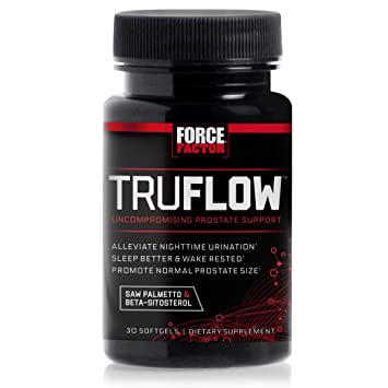 Force Factor TruFlow Prostate Health Support with Beta-Sitosterol and Saw Palmetto - Reduce Frequency