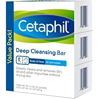 3 Pack Cetaphil Deep Cleansing Face & Body Bar