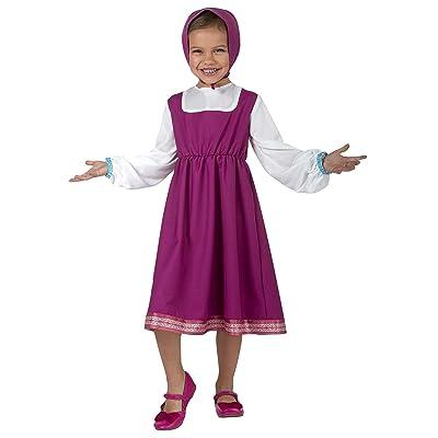 Palamon Masha and The Bear Girls Masha Costume - 4/6 Pink: Clothing