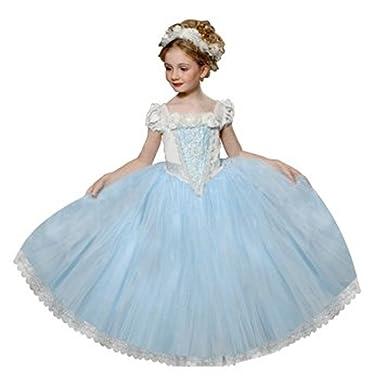 05c70d1f04767 Ninimour Déguisement Costume Robe Princesse Petite Fille  Amazon.fr   Vêtements et accessoires
