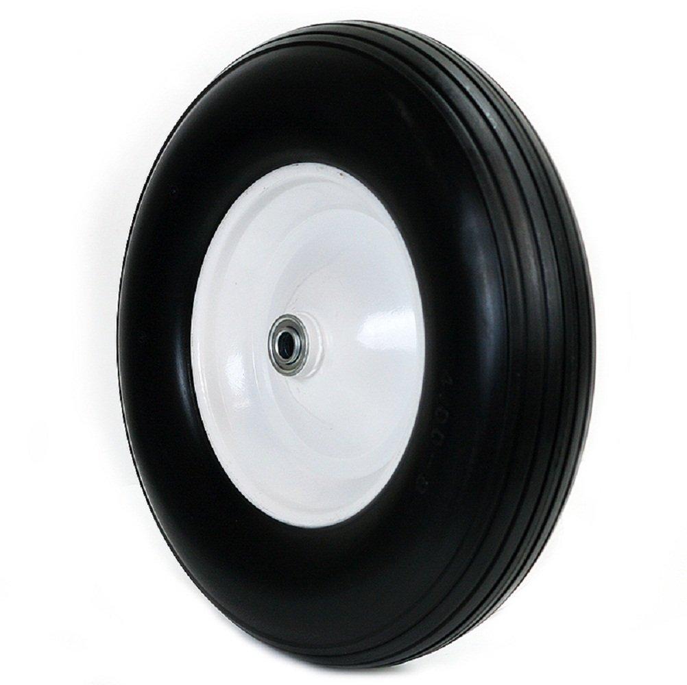 5/8'' Wheelbarrow Formed Ribbed Tread 16'' Wheel Barrow Cart Wagon Tire Flat Free