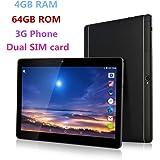 10.1 inch Metal case Tablet Android 6.0 GPS Octa Core 2560X1600 IPS Bluetooth RAM 4GB Storage 64GB 13.0 MP 3G Phone Call Tablets PC Dual sim card TYD-108-64GB-Black