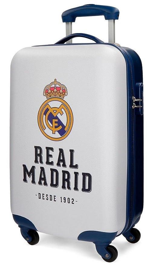 Real Madrid 5381462 RM GOL Equipaje de Mano, 55 cm, 33 litros, Blanco