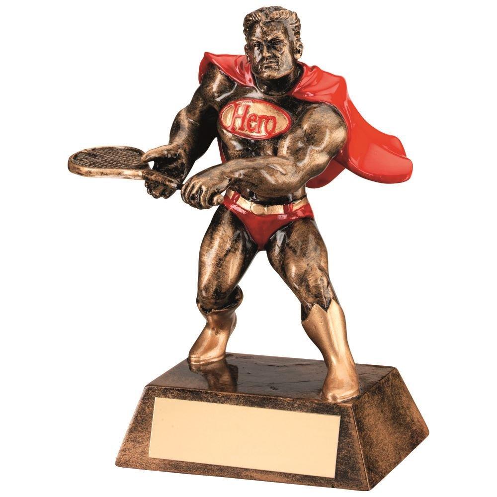 Lapal寸法BRZ/ゴールド/レッド樹脂テニス' Hero ' Trophy – 6 in B07F9WLMF4