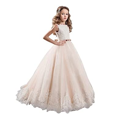 Amazon.com: Kalos Dress Shop Vintage Princess Floral Lace Flower ...
