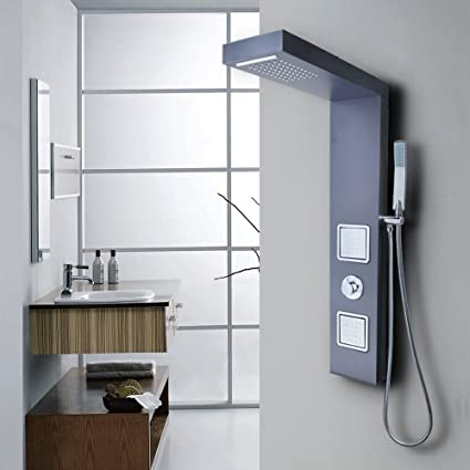 Beau KES Easy Connect Shower Panel SUS 304 Stainless Steel 4 Function Rainfall  Waterfall Style Massage