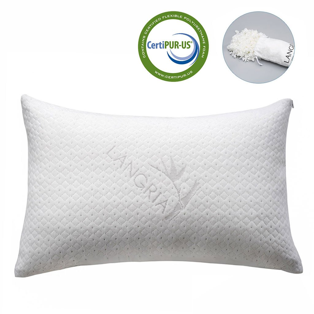 LANGRIA Bamboo Shredded Luxury Memory Foam Pillow