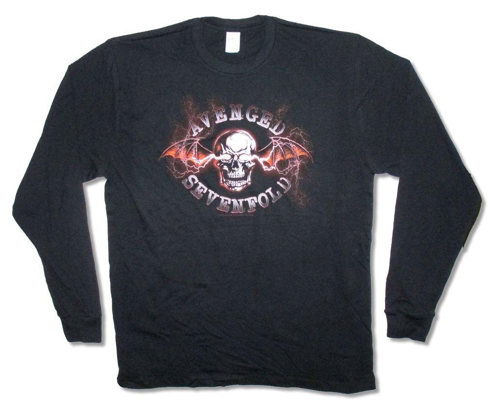 Avenged Sevenfold Lightning S Black D Shirt