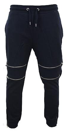 Fermeture Survêtement Homme Coton Double Pantalon Ajustés De Éclair OgAaqa