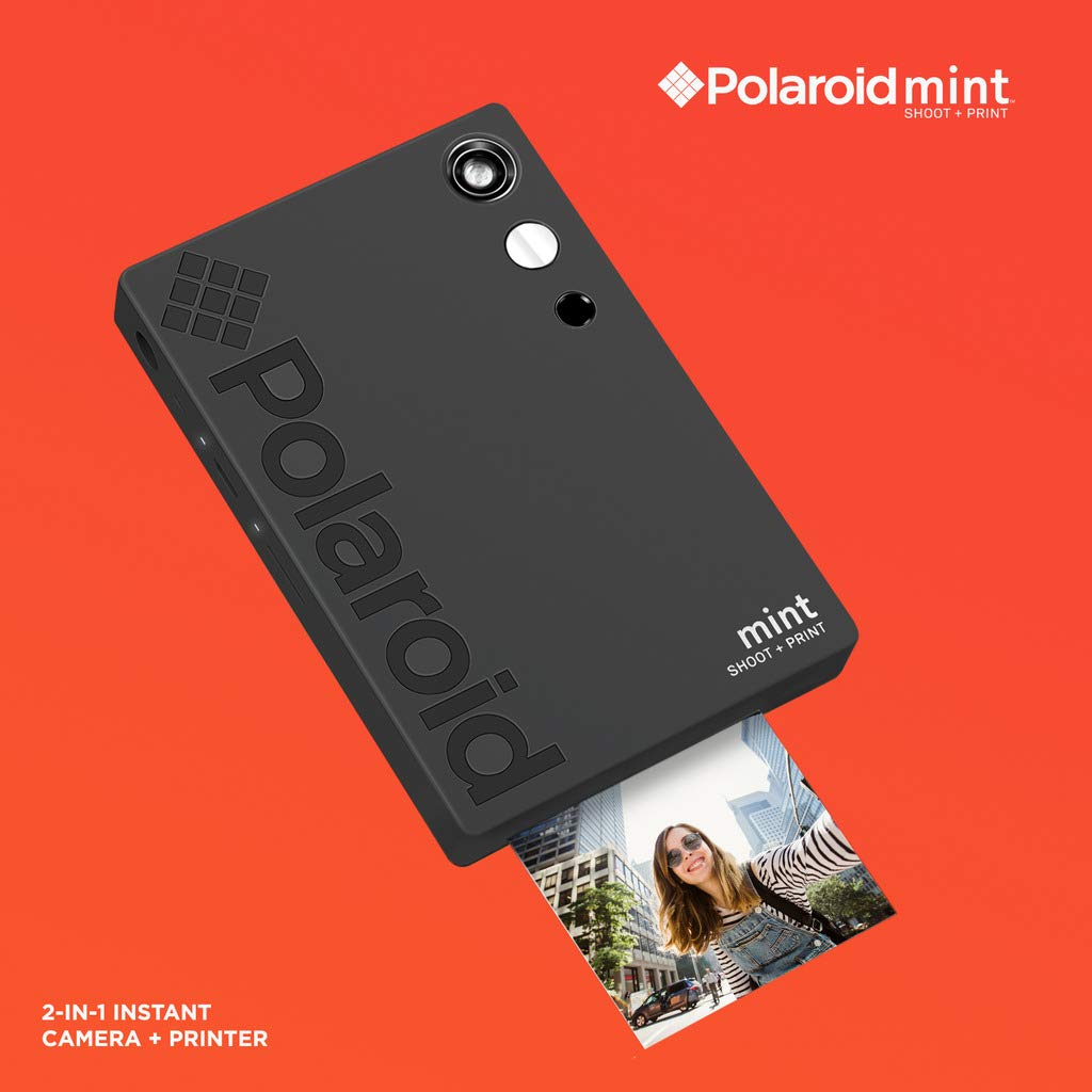 Polaroid Mint Instant Digital Camera (Black) Art Bundle + Paper (20 Sheets) + 8x8 Cloth Scrapbook + Pouch + 12 Twin Tip Markers + 100 Border Stickers + 6 Decorative Scissors + Washi Tape by Polaroid (Image #6)