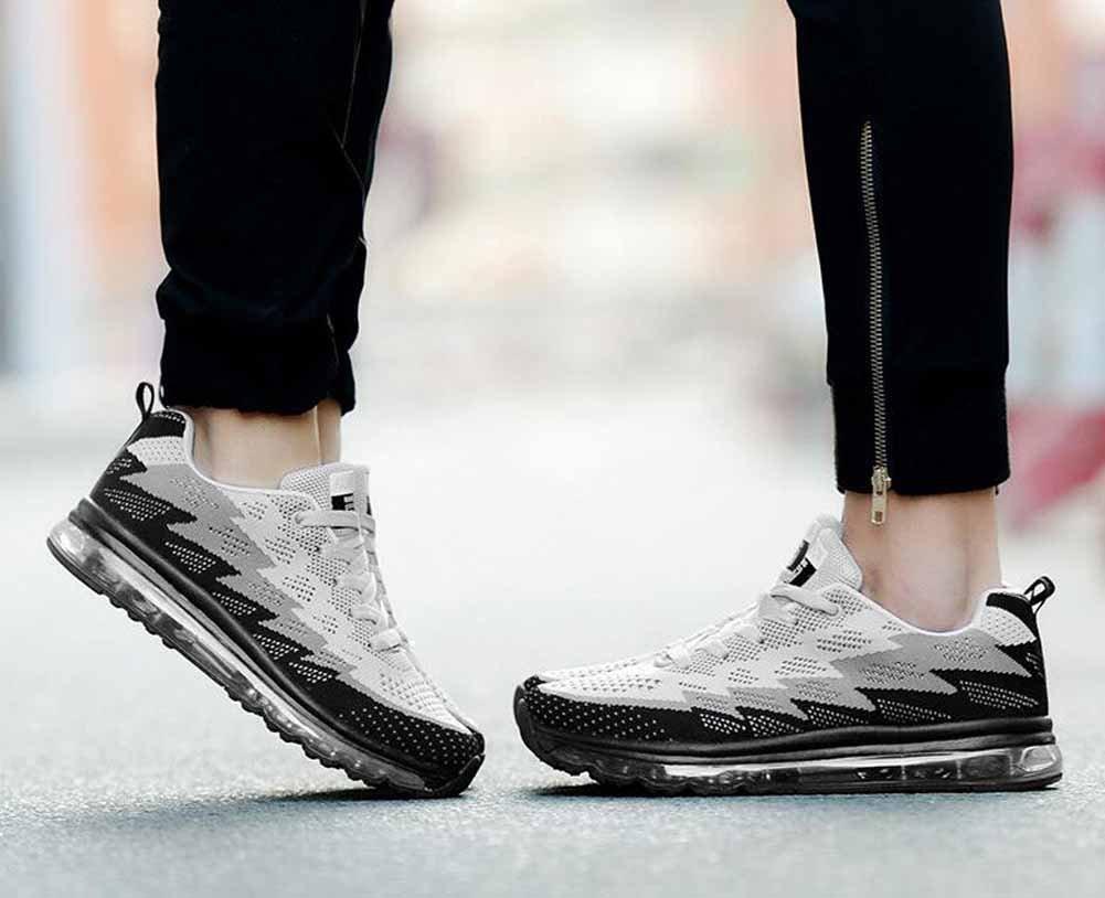 b36feb5a13495d Chaussures de sport GLSHI Hommes Tricoter Engrener Formateurs Coussin dair  Fonctionnement des Chaussures Ventilation Décontractée Le ...