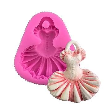 El ballet falda falda falda diy ballet princess cake molde de silicona y aroma de azúcar: Amazon.es: Hogar