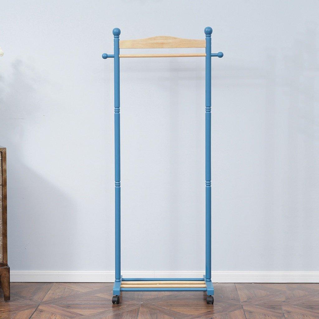 Wenbo home- All Solid Wood Single Pole HangersモバイルベッドルームコートラックLanding Clothesシェルフ – コートラック/フック B0798JJ276