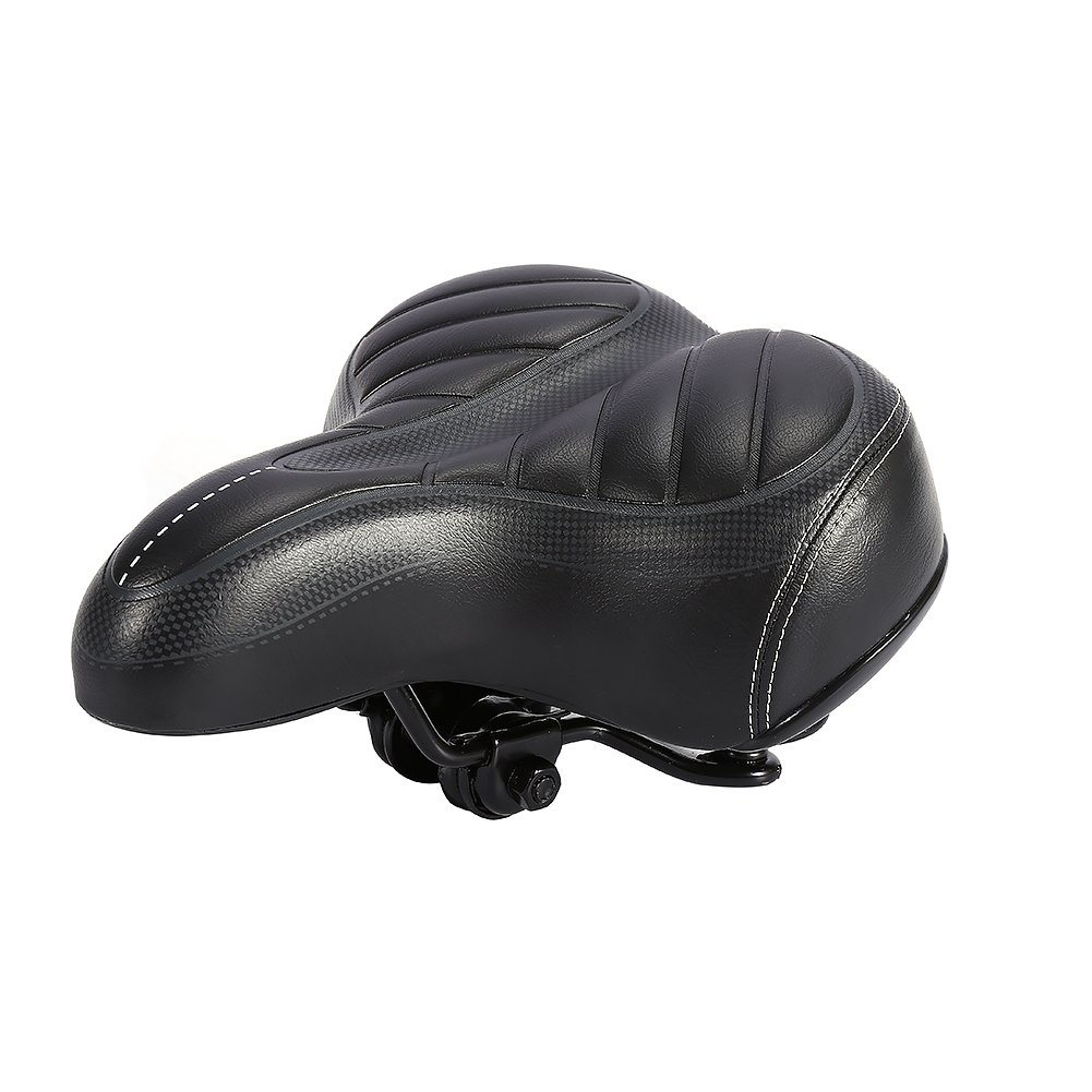 Yosoo Bike Saddle Seat, Oversized Bike Seat Cycling Bicycle Sprung Comfort Soft Saddle Seat Outdoor Unisex Wide Big Bum Cushion, Universal Fit For Exercise Bike And Outdoor Bikes