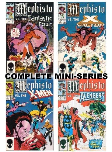 bf4f62d89d Mephisto Vs. (Complete Mini-Series, #1-4) (vs. Fantastic Four, - Import ...