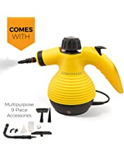Comforday Multi-Purpose Handheld Pressurized Steam Cleaner with 9-Piece Accessories for Stain Removal, Carpets, Curtains, Car Seats, Kitchen Surface,Floor,Window Cleaning