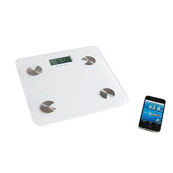Bluetooth Báscula de análisis (Peso Grasa Corporal Agua Porcentaje Masa muscular huesos Peso (pantalla