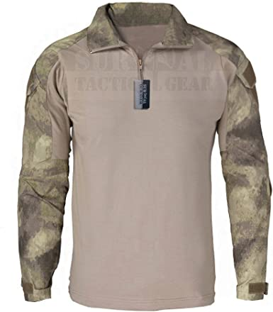 zapt Gen2 combate camiseta con coderas para Airsoft y Camping senderismo Caza BDU Ripstop Tactical camisa uniforme de camuflaje del ejército ...