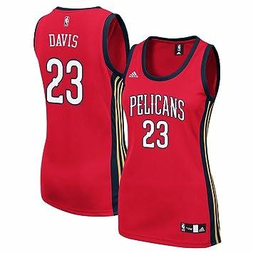 Adidas Anthony Davis Orleans pelícanos NBA Rojo Oficial suplente réplica de la Camiseta para Mujer, L, Rojo: Amazon.es: Deportes y aire libre