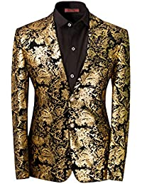 4c6fa2adc458f Men s Dress Floral Suit Notched Lapel Slim Fit Stylish Blazer Dress Suit