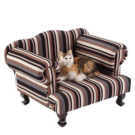 A&N Cama para Mascotas Gato Sofá Cama De Perro De Madera Maciza para Perros Mediana Y