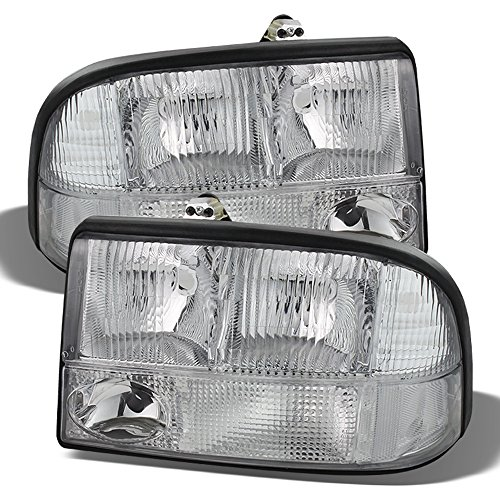 - ACANII - For 1998-2004 GMC Sonoma S15 98-01 Jimmy Bravada Headlights Fog Bumper Parking Lamps Driver + Passenger Side