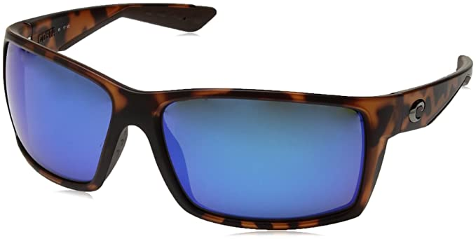 Costa Del Mar RFT66OBMGLP Mens Retro Tortoise Frame Blue Lens Rectangular Polarized  Sunglasses 68e5b99aeedb