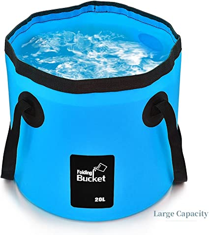 Portable Foldable Fishing Bucket Collapsible Water Bucket Wash Basin Outdoor
