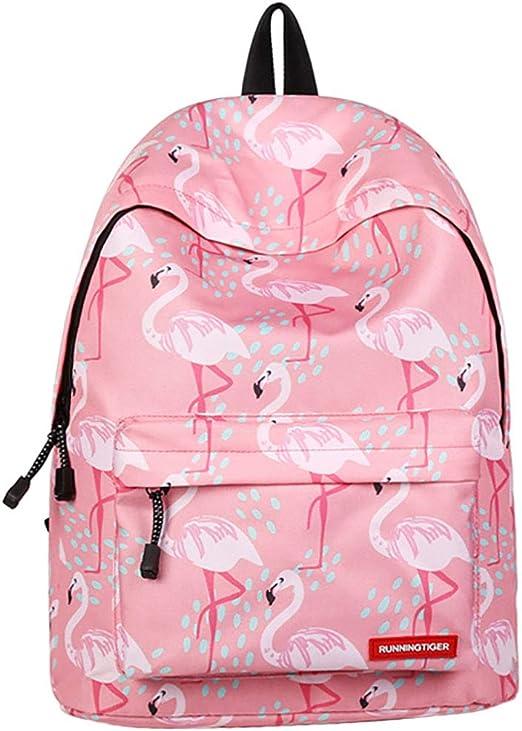 Boomly Flamingo Mujer Mochila Mochila Escolar Niña Ocio ...