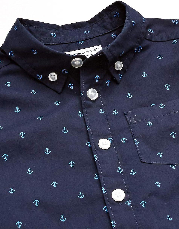 Essentials Boys Short-Sleeve Poplin//Chambray Shirt