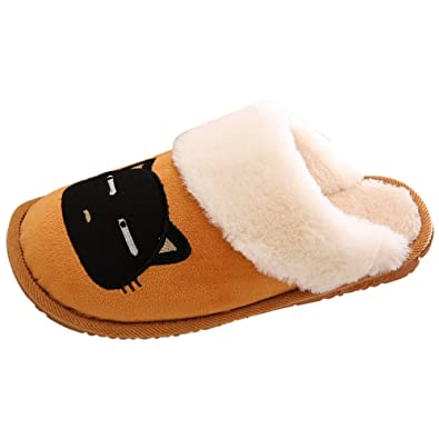 9c99f7d6650b DULEE Women s and Men s Indoor Winter Keep Warm Fleece Slippers House Shoes