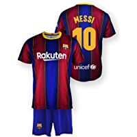 Conjunto Messi Camiseta y Pantalón Producto Oficial Licenciado FC Barcelona Primera Equipacion Temporada 2020-21