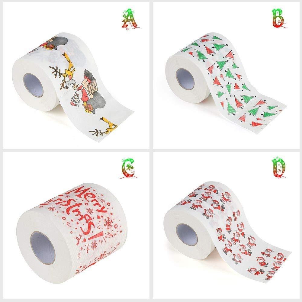 Papel higi/énico para la Familia Papel higi/énico Suave Rollos de Papel higi/énico,Papel higi/énico Navidad Suave Art/ículos de Navidad Decoraci/ón navide/ña Rollo de Papel tis/&u impresi/ón navide/ña