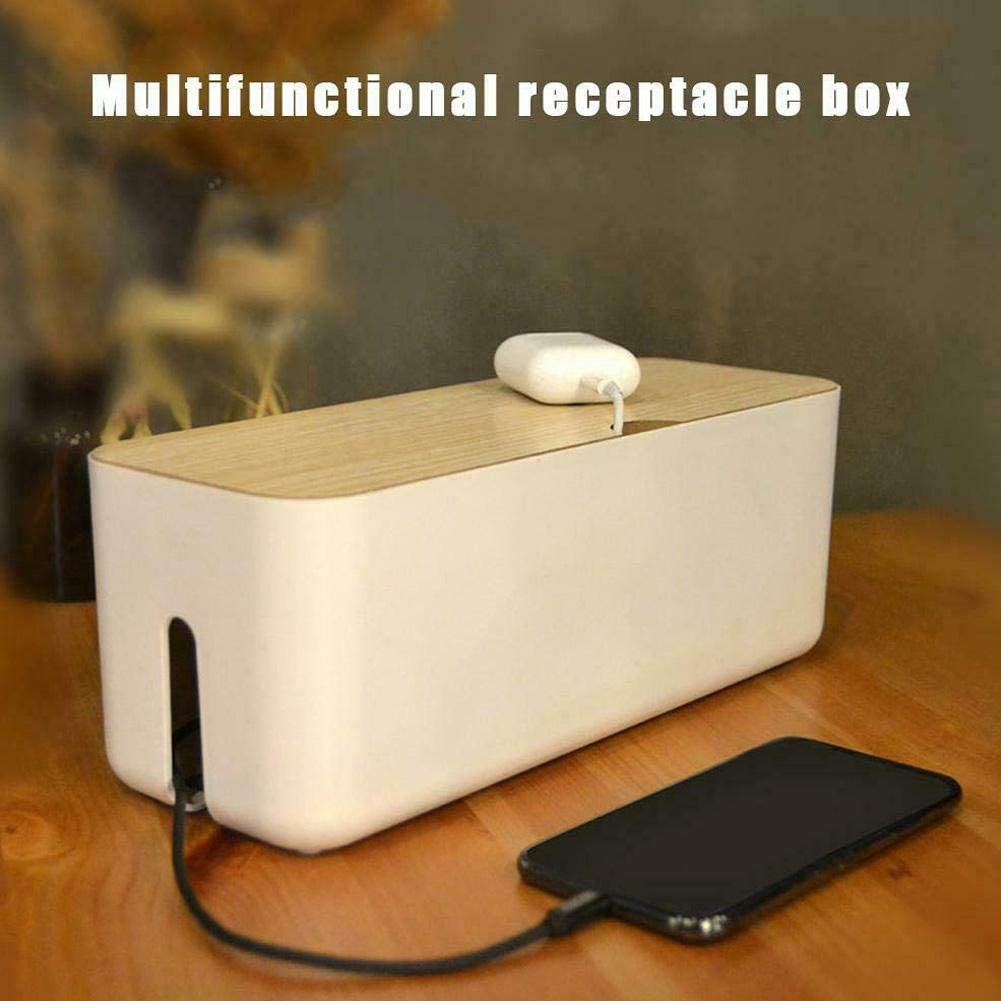 Multi-function Cable Storage Box Charger Power Cord Hideaway Cable /& Wire Management Mobile Computer Tablet Cable Organizer Cable Tidy Box