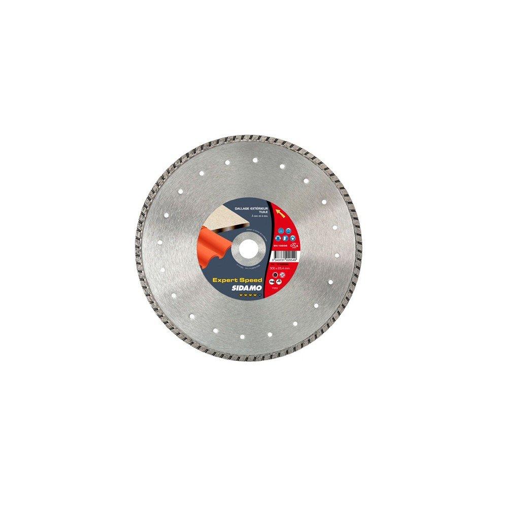 Sidamo–Diamant-Trennscheibe Expert Speed D.350x 25,4–20x 8,5x EPH. 3,2mm–JC kanneliert,–Spezial Dachziegel/Materialien–11102055