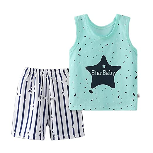 Amazon.com  Euone Baby Outfit 0-3 Years Old Girls Boys Star Tops Vest  Shorts Pants  Clothing 6a55e4401