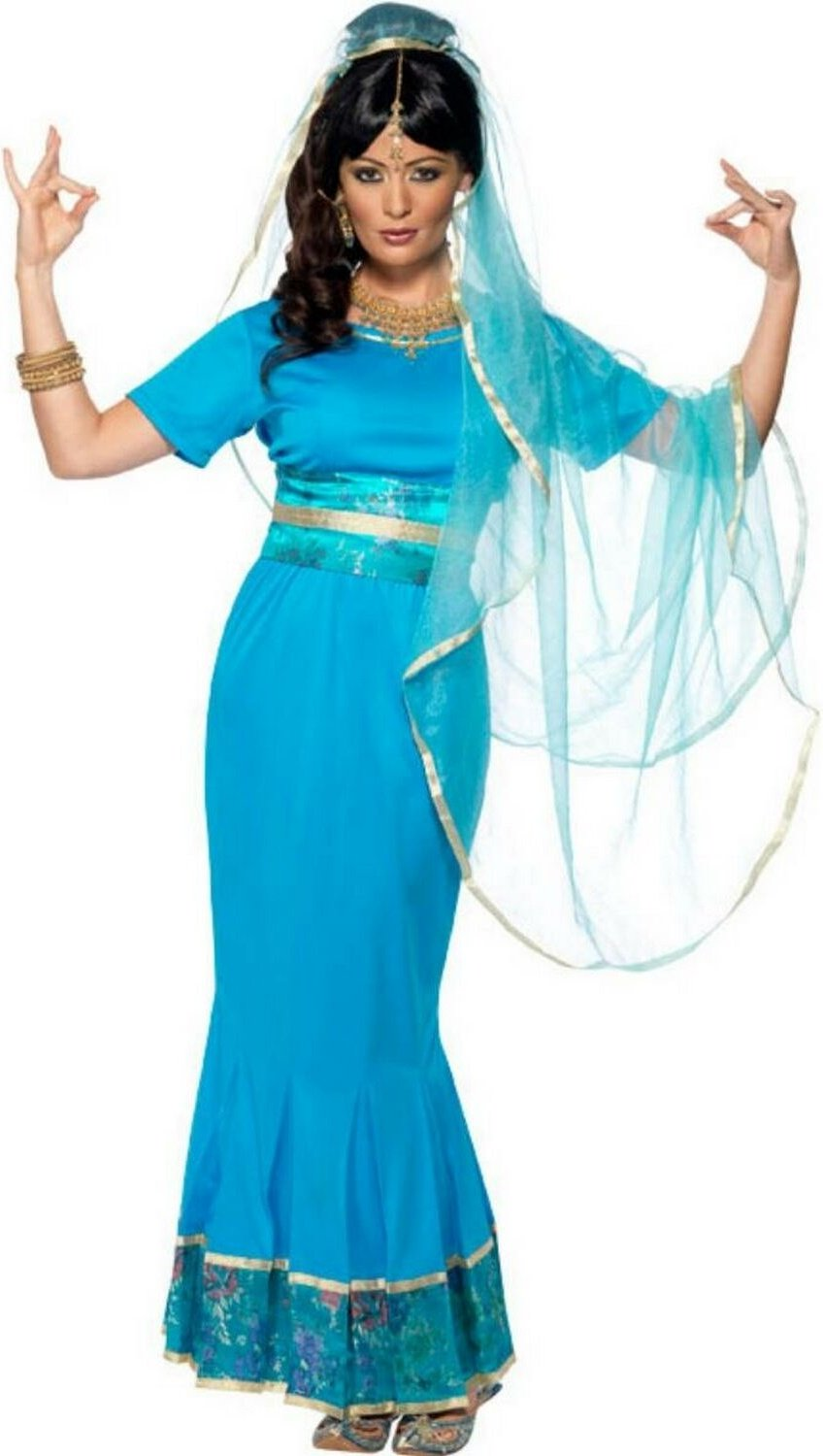 Blue Bollywood costume for women - S: Amazon.co.uk: Kitchen & Home