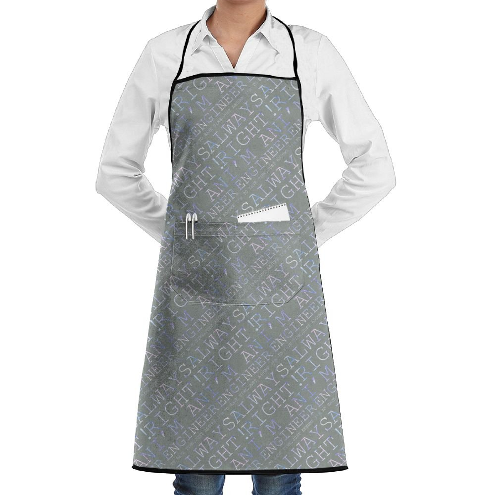 I'm Am Engineer To Save Time,just Assume I'm Always Rigt! 1 Colortone Baking Aprons Restaurant Apron With Pocket