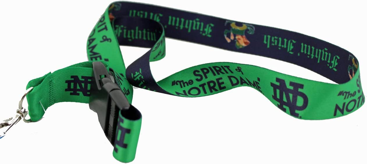 WinCraft NCAA Notre Dame 31217010 Lanyard with Detachable Buckle 3//4
