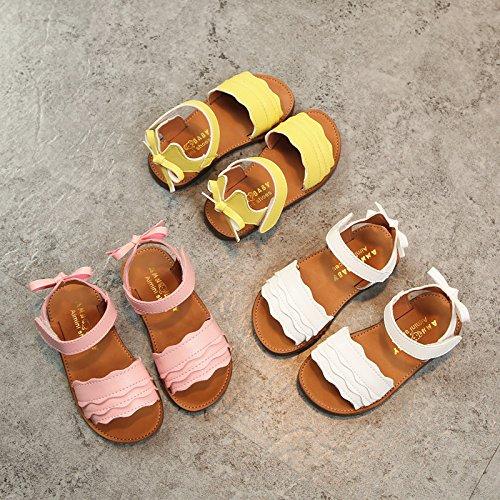 Toddler//Little Kid MIGO BABY Girls Open Toe Strap Sandals Summer Fashion Flat Bow Sandals