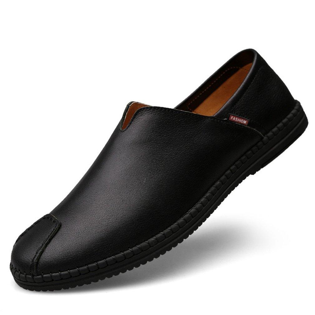 YAN Herren Schuhe Leder Slip On Casual Smart Loafer Driving Stiefelschuhe, Stoßdämpfung, Belüftung, Verschleißfestigkeit, Desodorierung, A,37